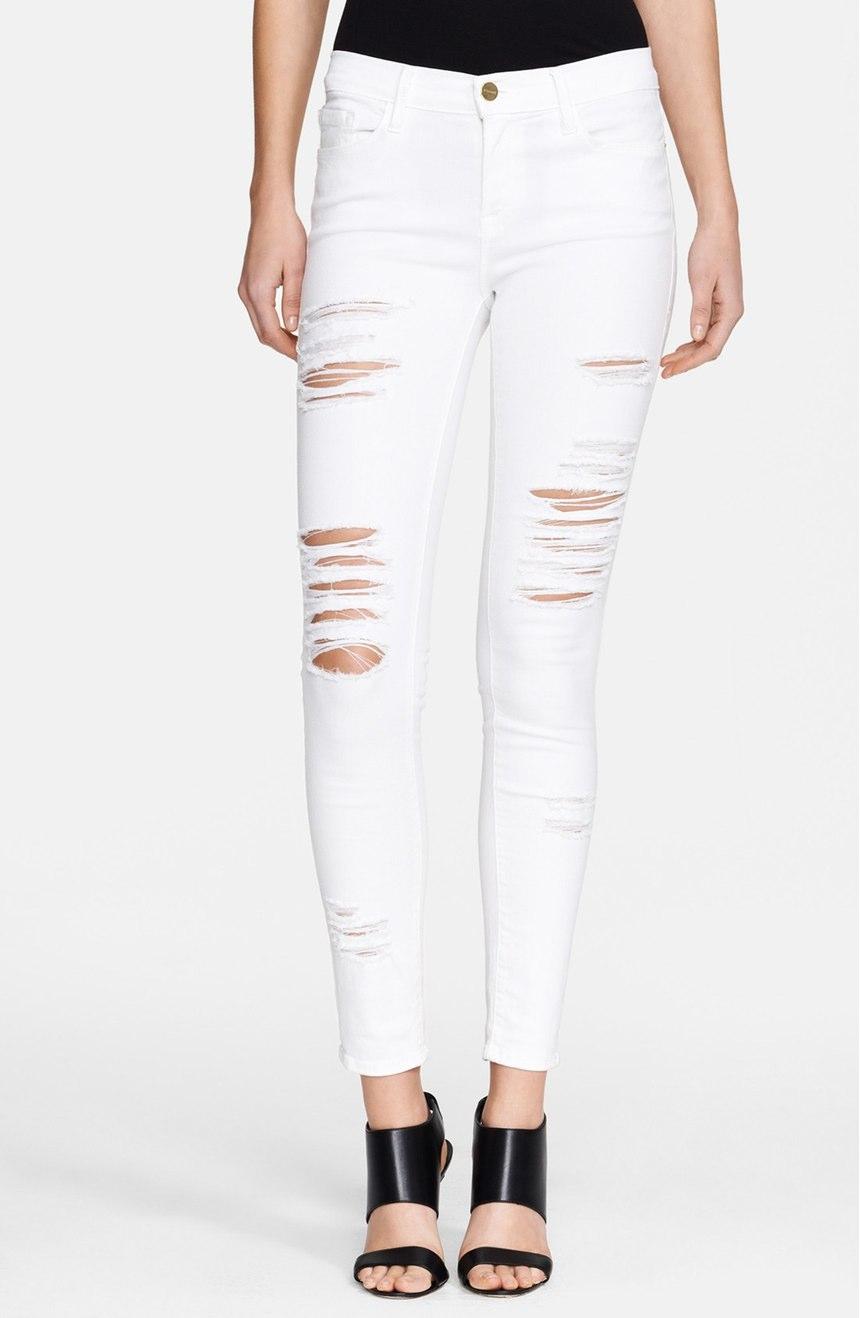 Frame  'Le Color Rip' Skinny Jeans (Film Noir). Nordstrom. $199.