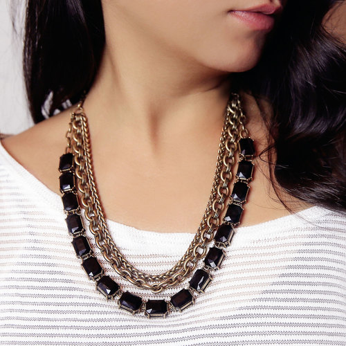 Jet Octagon Convertible Necklace. Chloe + Isabel. $128.