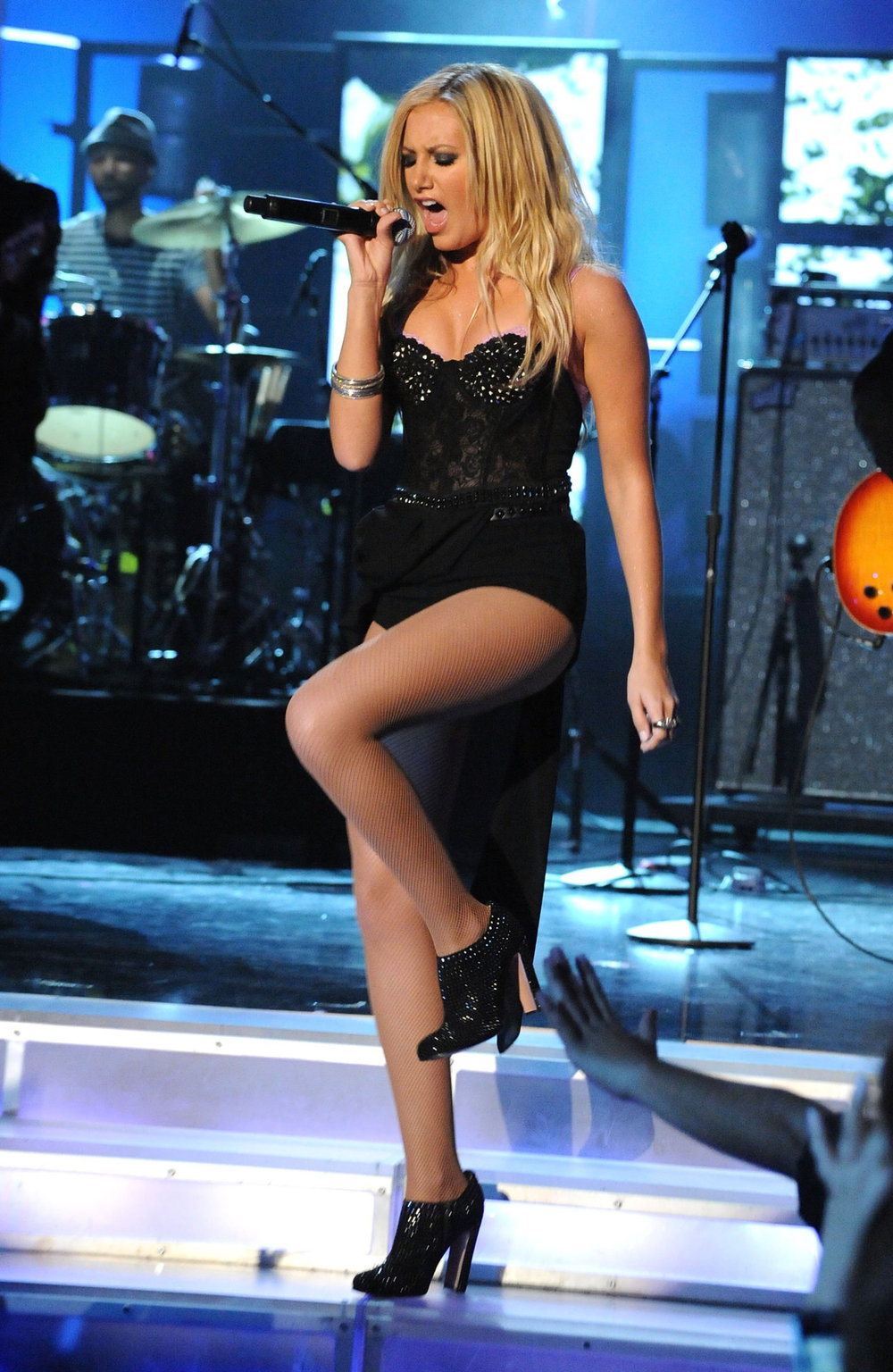 Ashley Tisdale in nude fishnets for your reference:)
