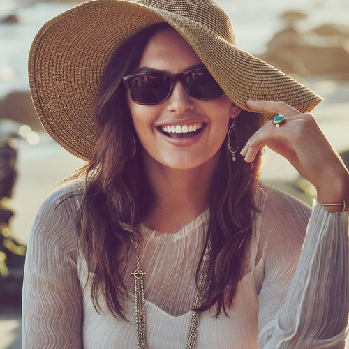 Wide-Brimmed Summer Straw Hat. Chloe + Isabel. $48.