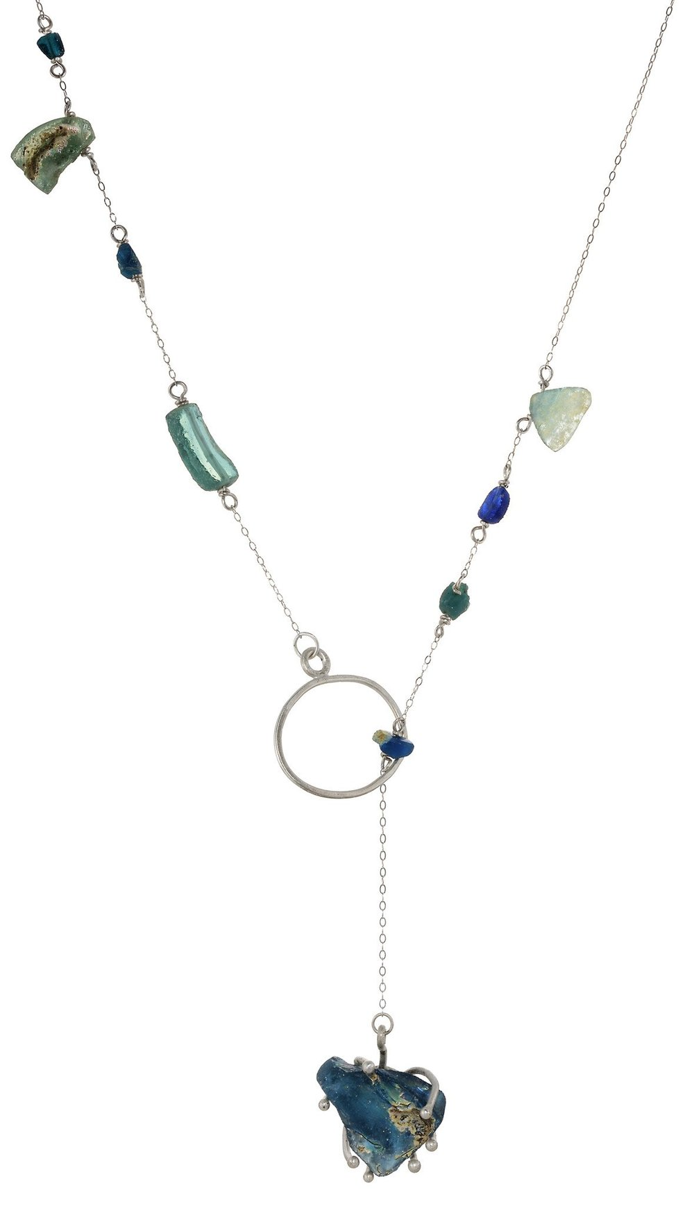 AMANDA IRIDESCENT ANCIENT ROMAN GLASS LARIAT. Tara Hutch. $229.