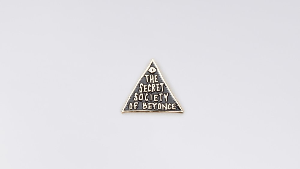 SECRET SOCIETY OF BEYONCE PIN. Wildfang. $10.