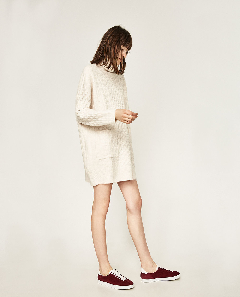 COARSE KNIT DRESS. Zara. $69.