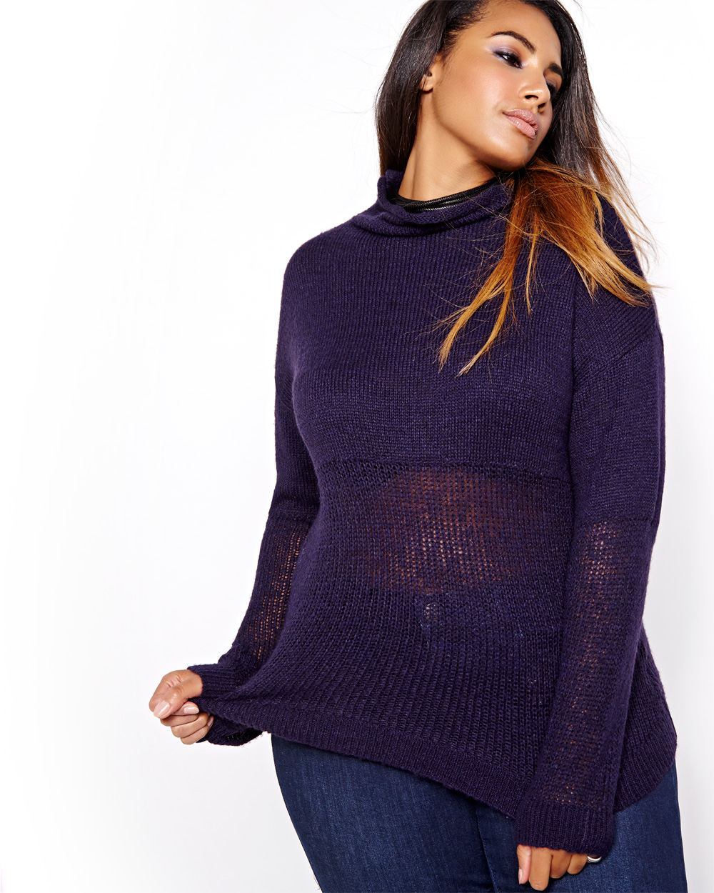 L&L Funnel Neck Sweater. Addition Elle. $78.