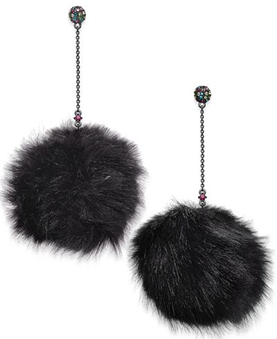 Betsy JohnsonTrolls Faux Fur Pom Pom Earrings. Macys. Was: $38. Now: $26.
