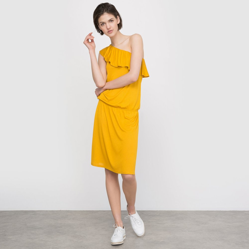 R édition  Softly Draping One Shoulder Dress. La Redoute. $29.