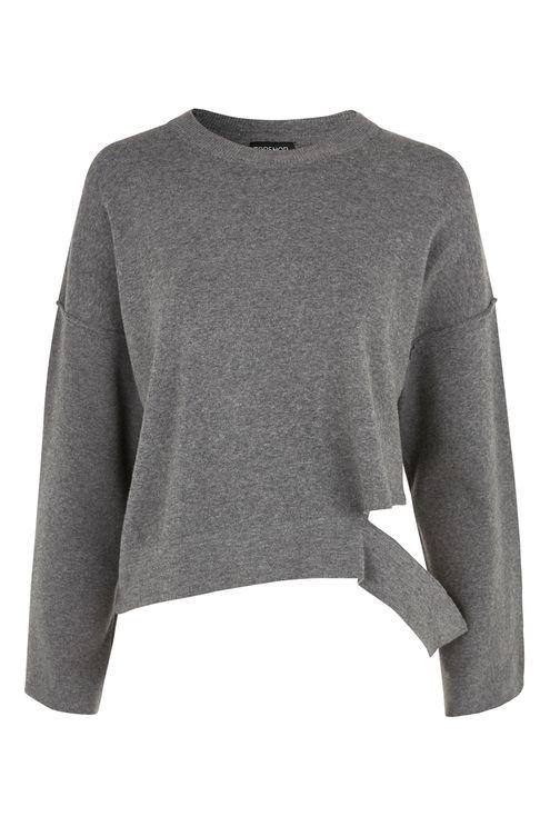 Disconnected Hem Knitted Sweatshirt. Topshop. $68.