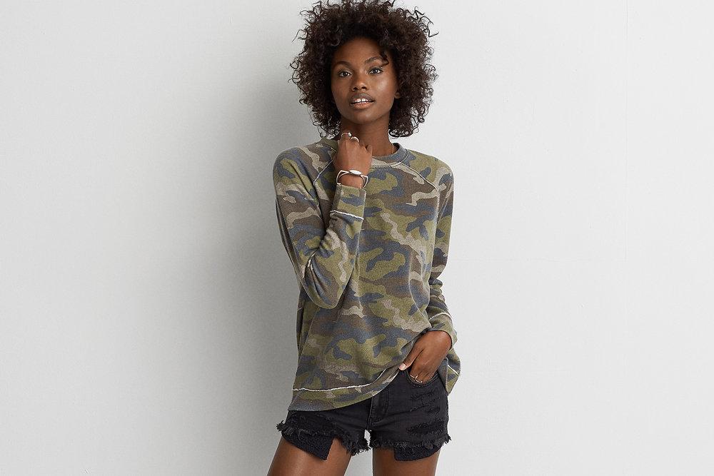Camo Crew Sweatshirt. American Eagle. $39.