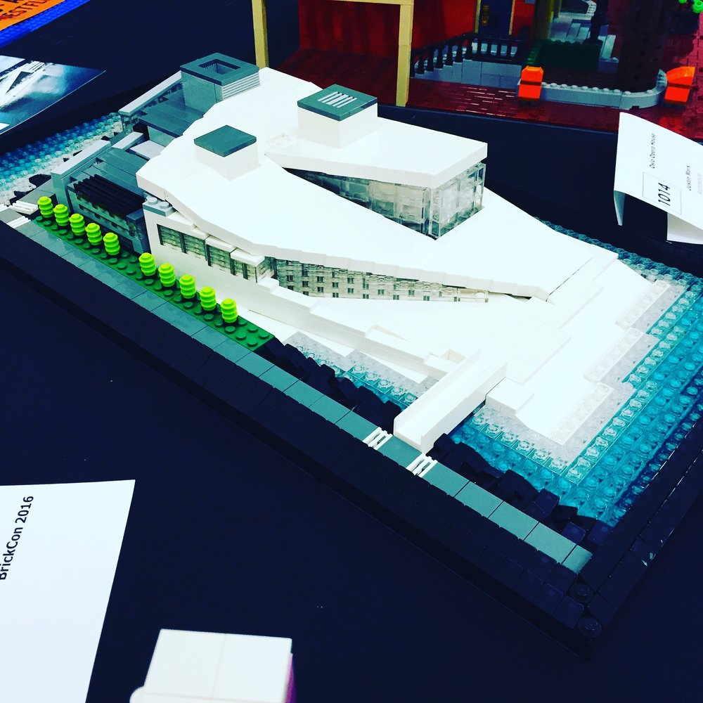 Justin's version of the Oslo Opera House made out of Lego.