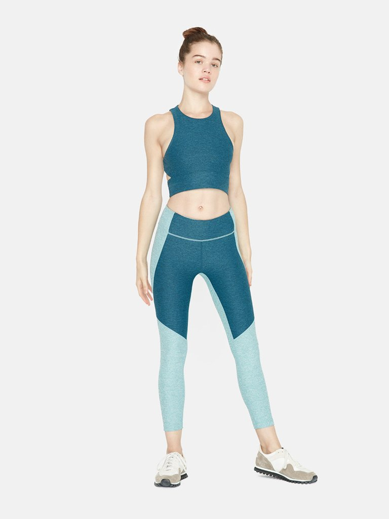 3/4 Two-Tone Warmup Legging.Available in multiple colors. Outdoor Voices. $85.