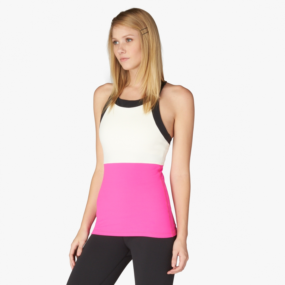 Blocked Band Racer Tank. Available in two colors. Kate Spade. $110.