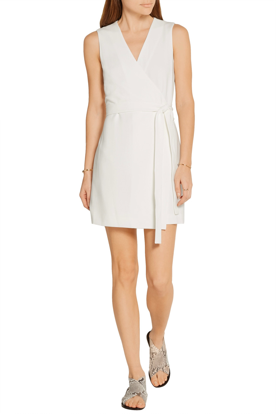 THEORY Benina crepe wrap playsuit. The Outnet. Was: $355. Now: $177.
