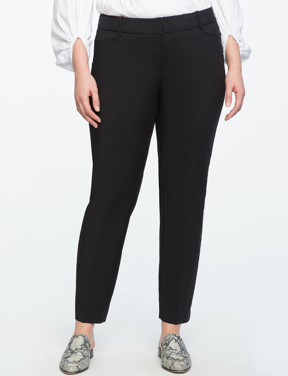 Kady Fit Double-Weave Pant. Available in several colors. Eloquii. $79. Additional 30% off with code: NEEDTHAT.