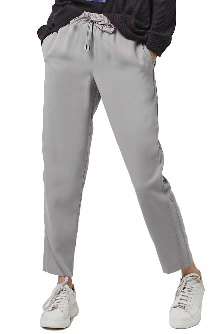 Topshop Contrast Piped Ankle Zip Jogger Pants. Available in grey, black. Nordstrom. $58.
