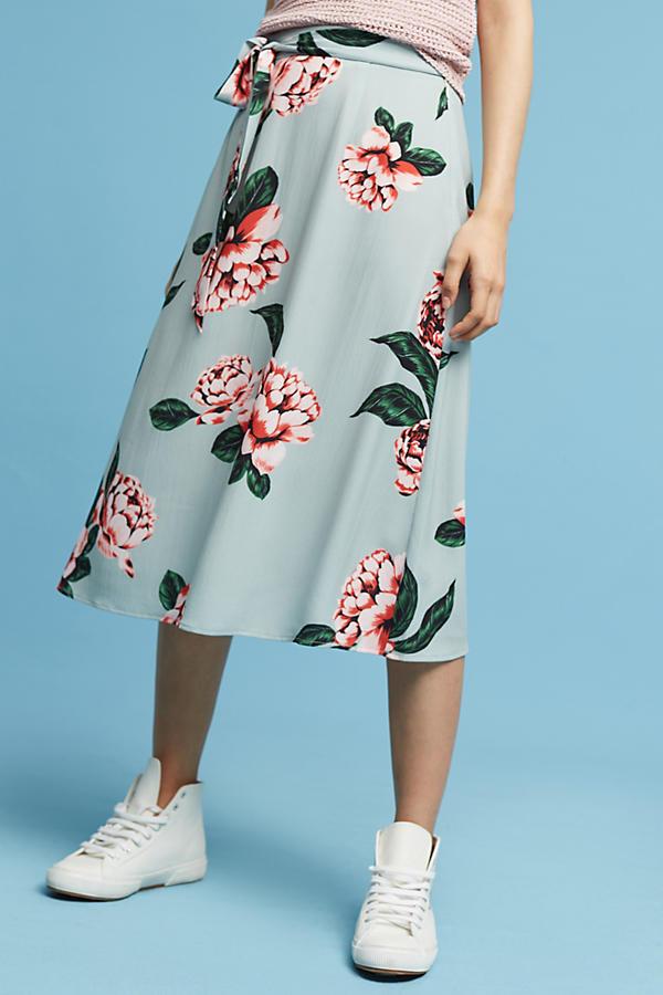 Gemini Floral Skirt. Anthropologie.  $128.00