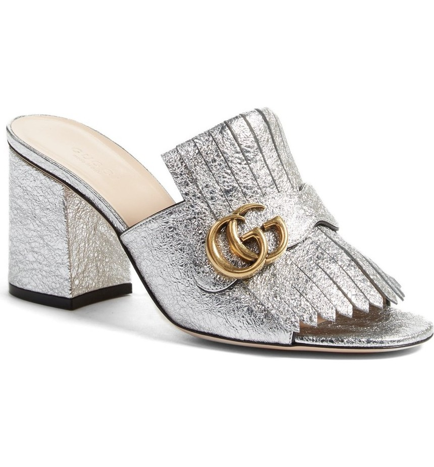 Gucci GG Marmont Peep Toe Mule. Nordstrom. $795 pre order.