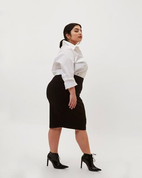PETITE DANUBE HEAVYWEIGHT JERSEY SKIRT. Available in multiple colors. Universal Standard. $60.