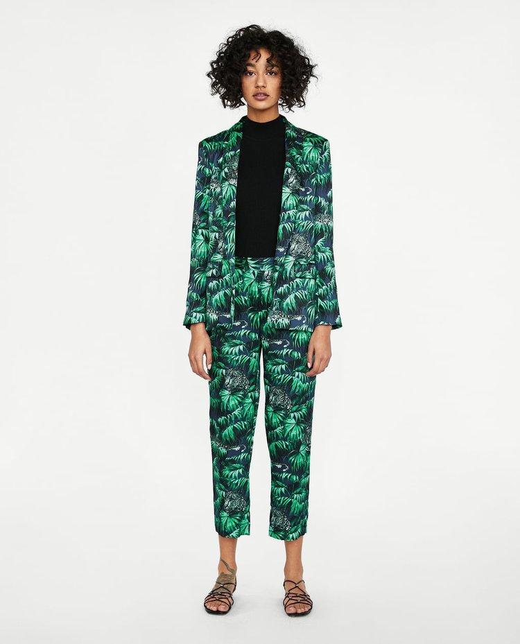 JUNGLE PRINT PANTS. Zara. Was: $49. Now: $22.