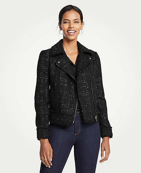 Peplum Moto Jacket. Ann Taylor. Was: $179. Now: $149. (Remember that the Ann Taylor at Pacific Place is closed. So you'll want to order online unless you are near another location.)