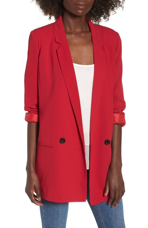 Mural Oversize Blazer. Available in multiple colors. Nordstrom. $75. *** Just got two of these for a client. SO good.***