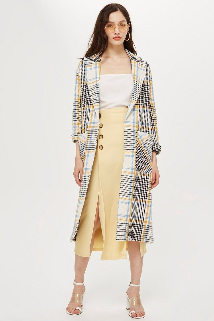 Check Duster Coat. Topshop. $150.