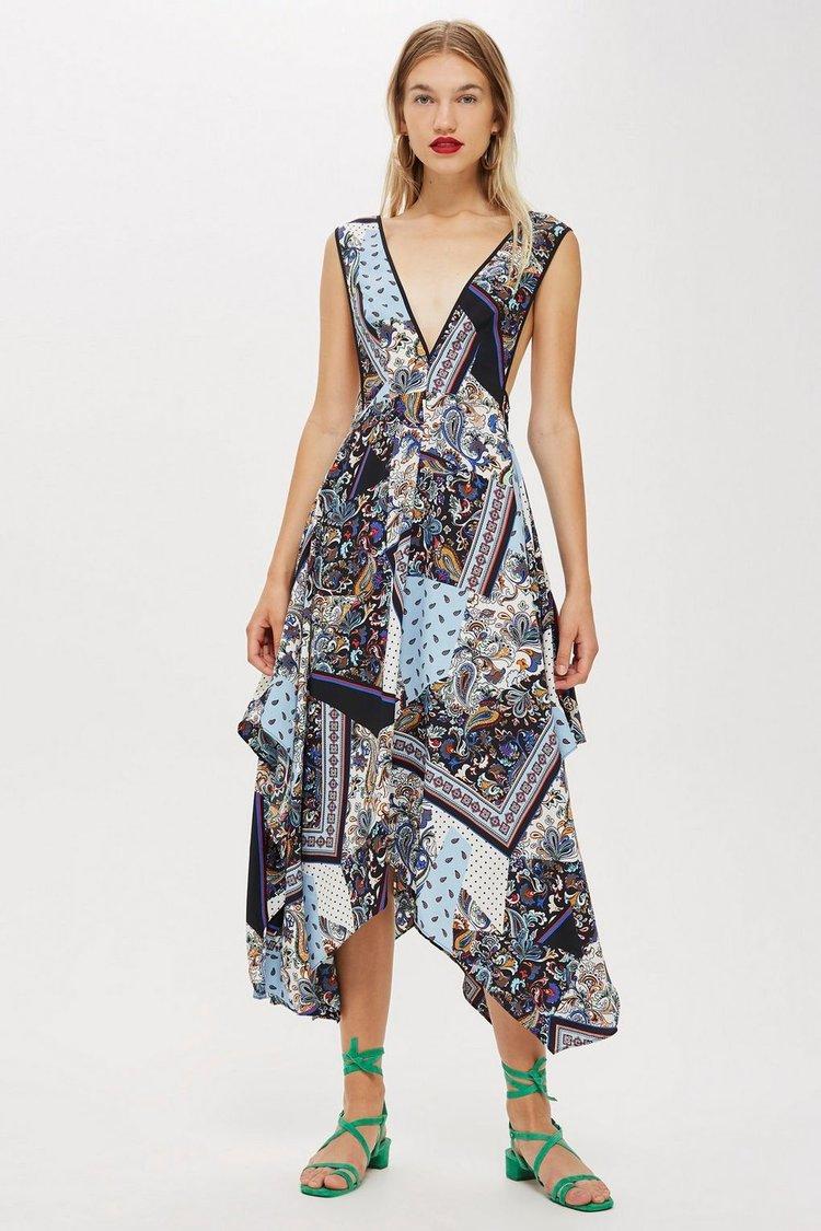 Scarf Print Pini Dress. Topshop. $100.
