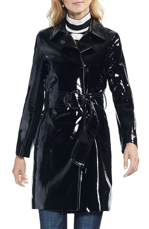 Vince Camuto Faux Patent Leather Belted Jacket. Nordstrom. $229.