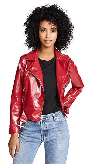 BB Dakota It's Electric Vinyl Moto Jacket. Shopbop. $100.