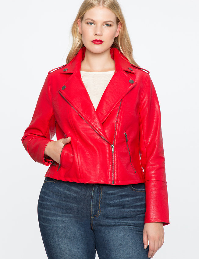 Moto Jacket. Available in three colors. Plus size. Eloquii. $149 + 40% off with code: MAJORSALE.