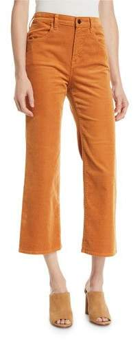 J Brand Joan High-Rise Cropped Corduroy Pants. Niemans. $228.