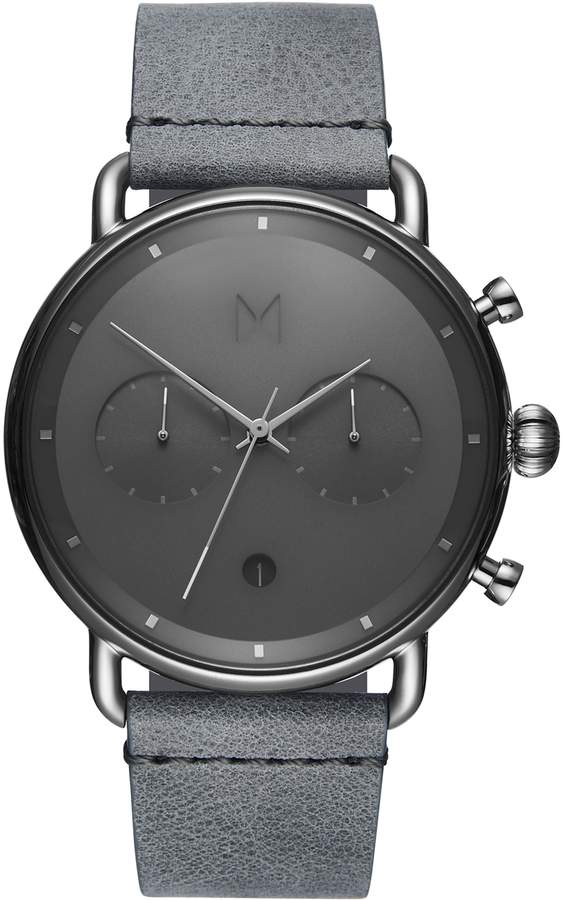 MVMT Blacktop Chronograph Leather Strap Watch. Nordstrom. $185.