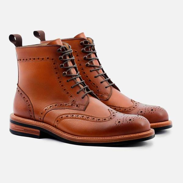 NOLAN BROGUE BOOT - CALFSKIN LEATHER. Beckett Simonon. Was: $350. Now: $219.