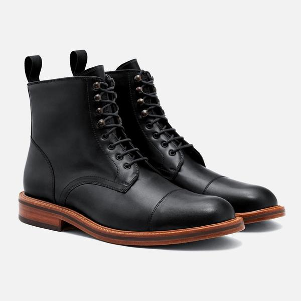 DOWLER CAP-TOE BOOT - CALFSKIN LEATHER. Available in two colors. Beckett Simonon. Was: $350. Now: $219.