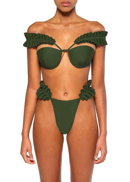 """Mulan Olive"" Bikini top $90 and bottoms $77.80"