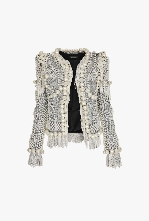 Embroidered pearled jacket $ 26,600.00