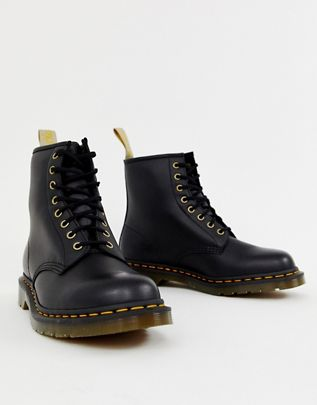 Dr Martens faux leather 1460 8-eye boots in black  $148.00