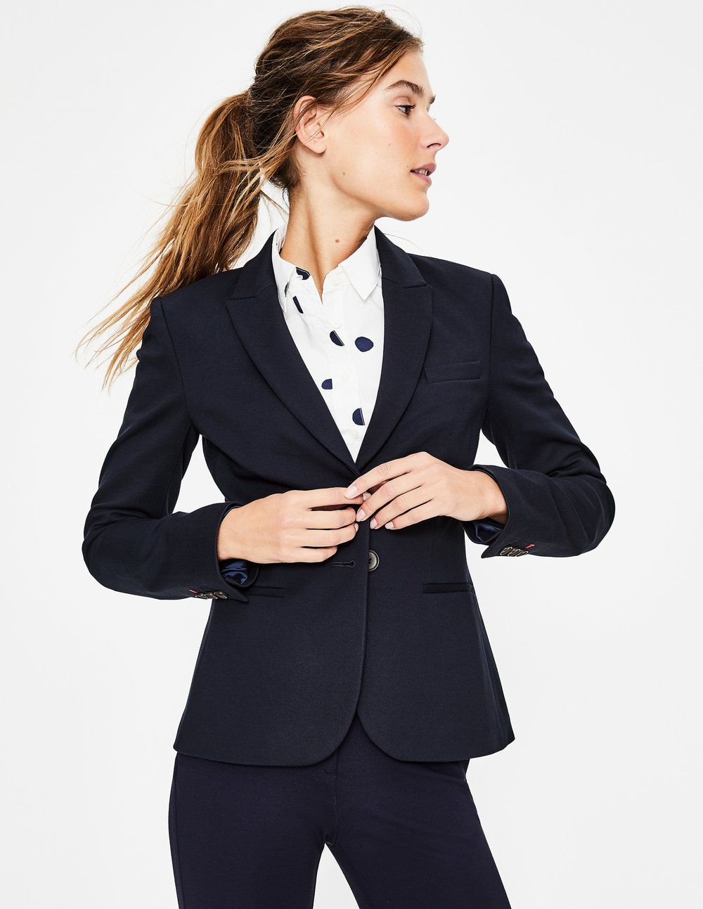 My favorite ponte blazer available in three colors including black and navy.