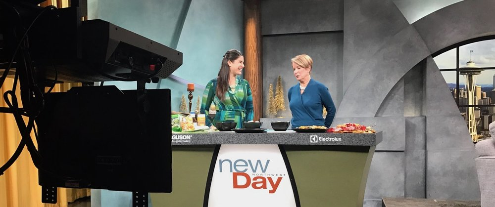 Here's Natalie. She's a regular on New Day educating on nutrition and fitness. She's with one of my favorite newscasters, Margaret Larson. I used to watch her on the news when I was a kid. She was still Margaret Pelley. I'm a bit of a fan girl……