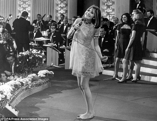 1967 - A barefoot Sandie Shaw wins Eurovision representing the UK