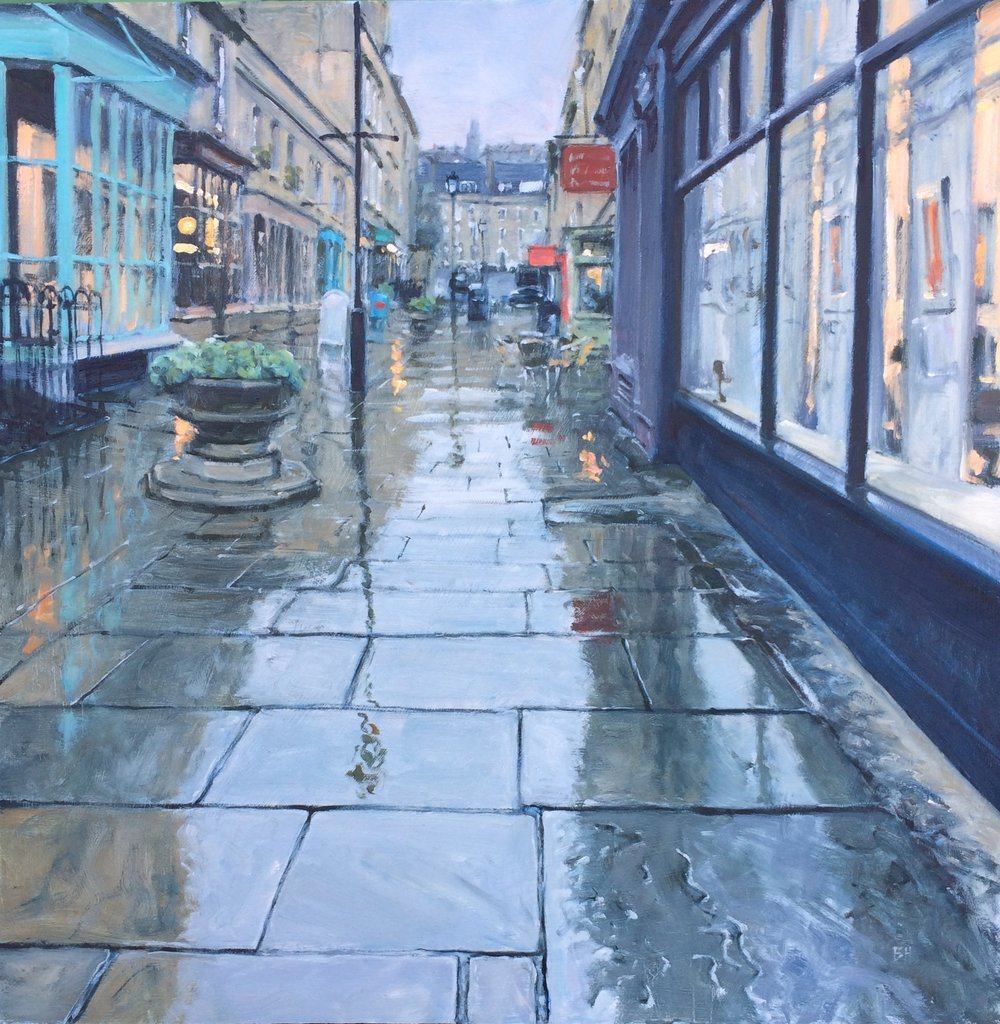 'Margaret's Buildings in the Rain I'