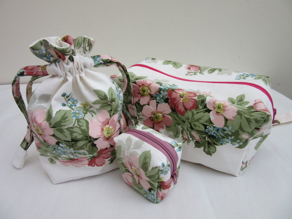 'Floral Cosmetic Bags'