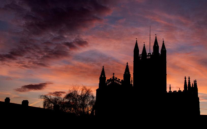 'Bath Abbey & Sunset'