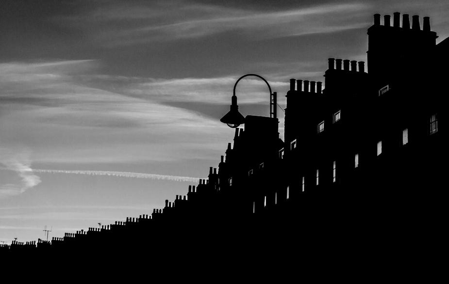 'Bath Architecture in Silhouette'