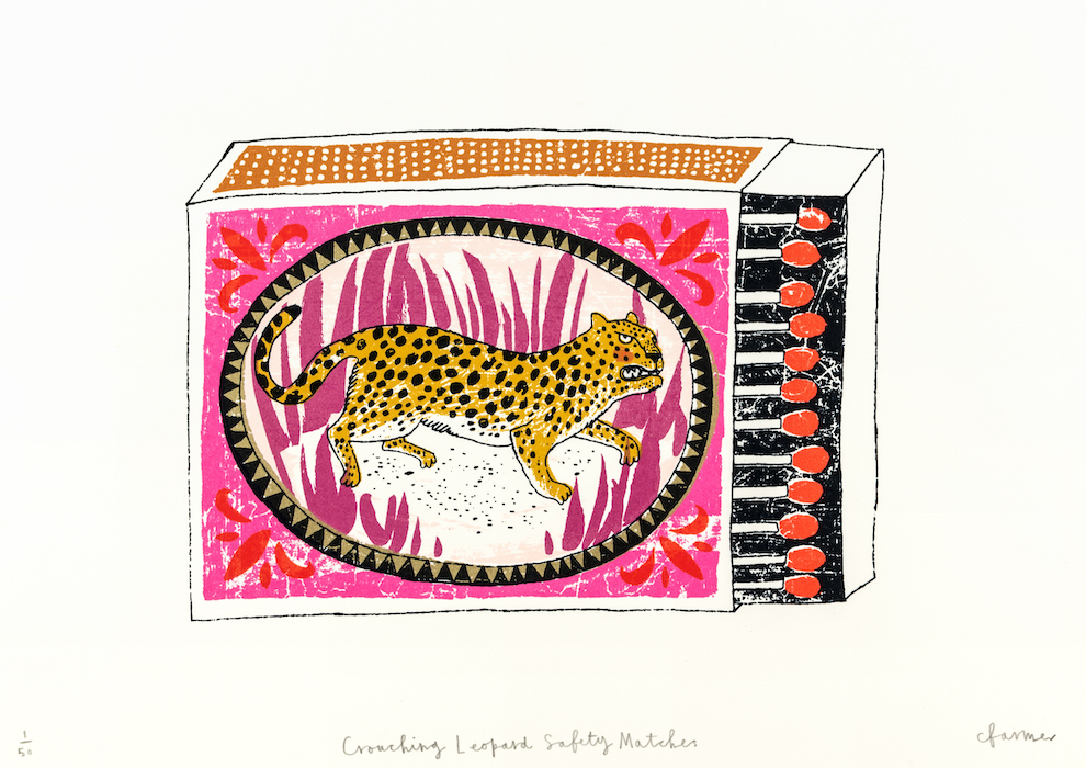 'Crouching Leopard Safety Matches'