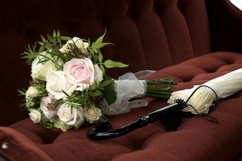 The bouquet was made up with ivory, champagne and pale pink roses