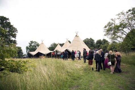 Guests made their way to the tipis for dinner and dancing