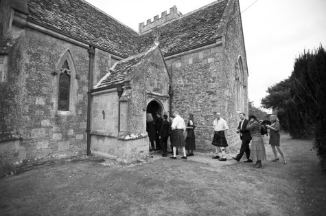 Guests arrive at the church