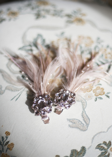 unusual hair accessories can be worn by the Bride, or her bridesmaids to complete the look
