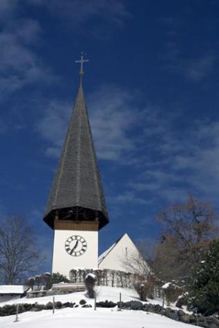 Wengen village church