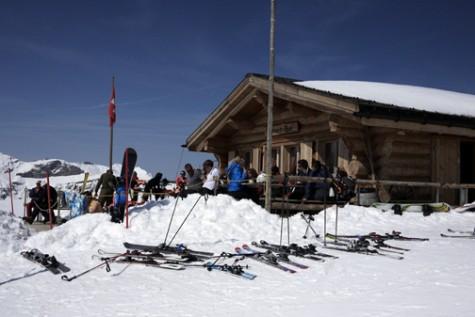 'The Start Bar' at the top of the famous Lauberhorn race, Wengen